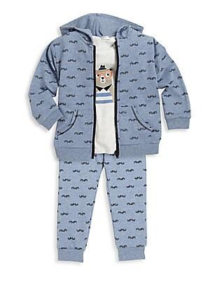 Baby's Three-Piece Hoodie, T-Shirt & Pants Set