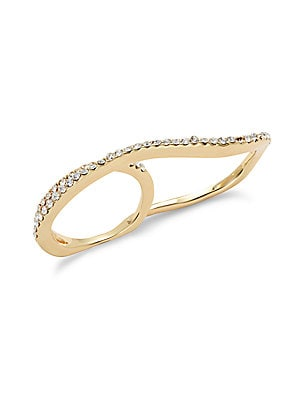 Crystal & 14k Gold-Plated Ring
