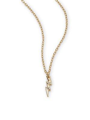 14K Gold-Plated Bolt Pendant Necklace