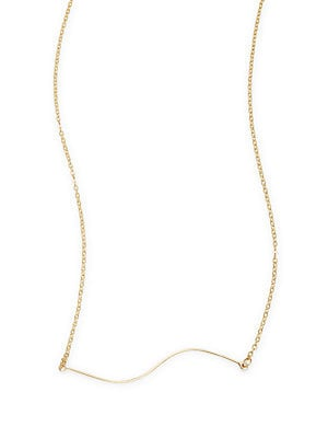 14K Gold-Plated Skinny Wave Necklace
