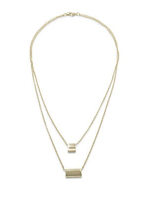 14K Gold-Plated Double Layer Necklace