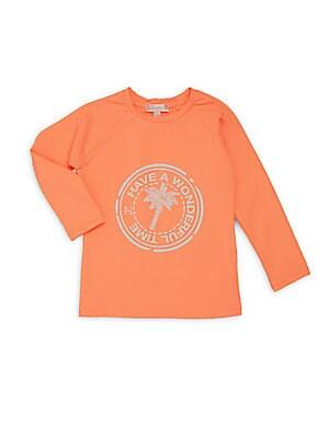 Little Girl's & Girl's Poppy Graphic Front Shirt