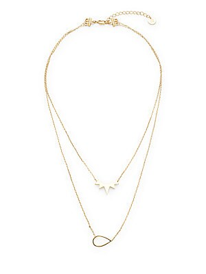 14K Gold-Plated Layered Pendant Necklace