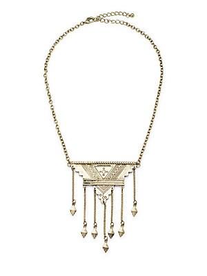 Amalia Fringed Pendant Necklace