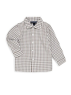 Boy's Spread Collar Check Shirt