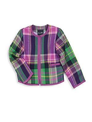 Girl's Plaid Jacket
