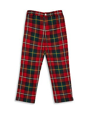 Boy's Plaid Wool Pants