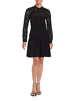 Embroidered Paisley Lace Dress