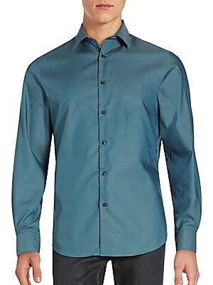Point Collar Cotton Shirt