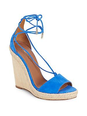 Belgravia Suede Wedge Sandals