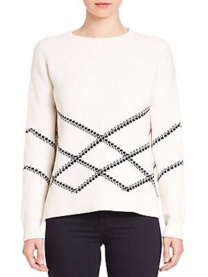 Graphic Stitch Pullover Sweater