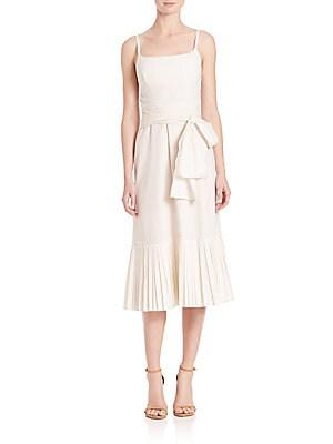 Minkar Poplin Wrap Dress