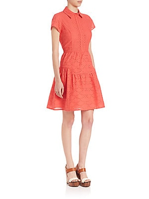 Skylar Cotton Eyelet Dress