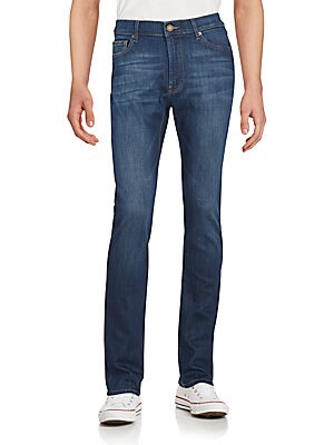 Washed Straight-Fit Jeans