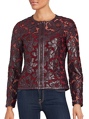 Floral Motif Mesh Jacket