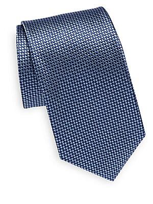 Wave Patterned Silk Tie
