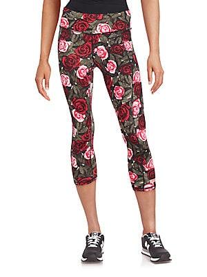 Floral Banded Waist Leggings