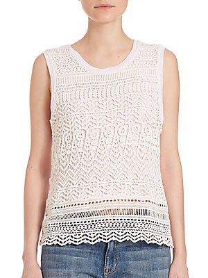 Izzy Lace Overlay Top