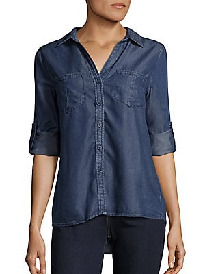 Rolled Tab Sleeve Shirt