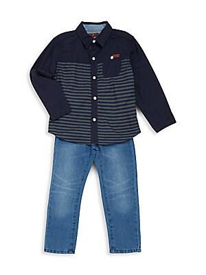 Boy's Two-Piece Shirt & Jeans Set