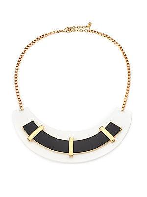 Black & White Arc Necklace