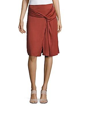 Anastasia Drape Front Skirt