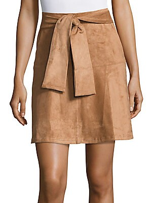 Solid A-Line Skirt