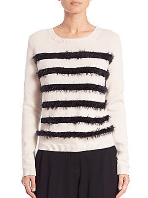 Abramo Eyelash-Striped Sweater