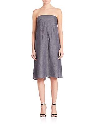 Vanessa Strapless Denim Dress