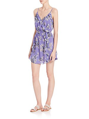 Foxglove Printed Silk Wrap Dress