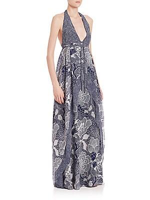 Fantasia Silk Maxi Dress