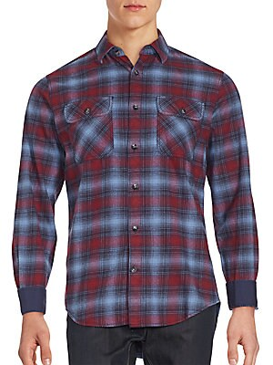 Plato Plaid Point Collar Shirt