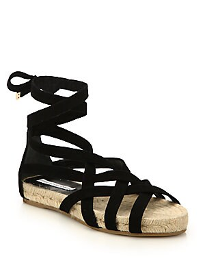 Bastia Suede Lace-Up Espadrille Sandals