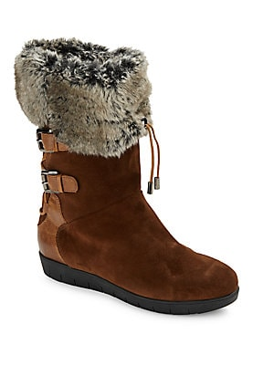 Weslyn Suede & Faux Fur-Lined Boots
