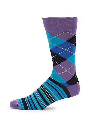 Combed Cotton Blend Mid-Calf Socks