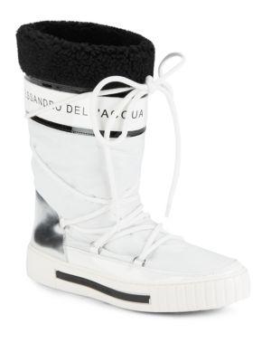 Faux Fur-Trimmed Boots