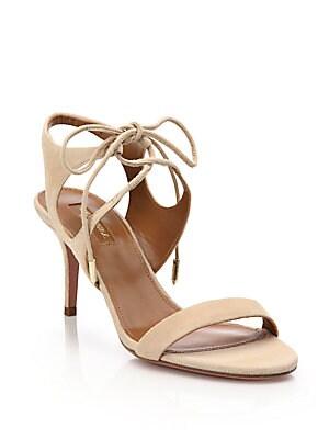 Collette Suede Lace-Up Sandals