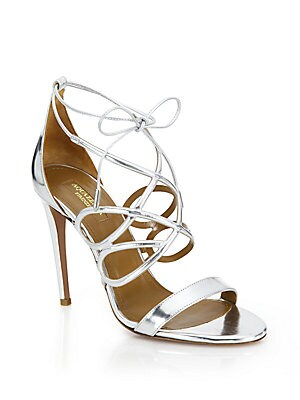 Gigi Metallic Leather Sandals