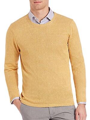 Cotton-Linen Beach Sweater