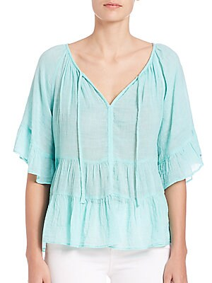 Ristabelle Tiered Cotton Top