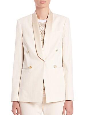 Cotton Canvas Tuxedo Jacket