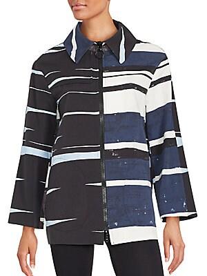 Colorblock Long Sleeve Jacket