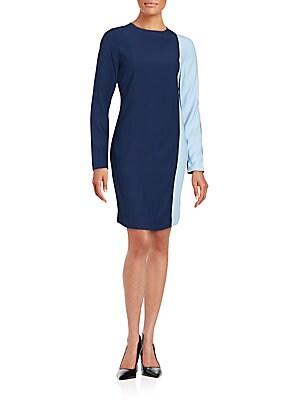 Asymmetrical Colorblocked Dress