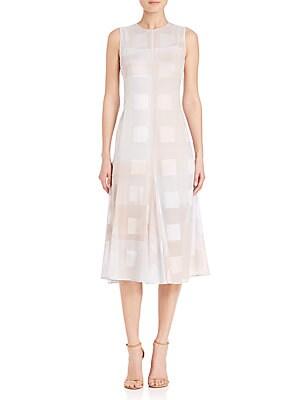 House N Window Print A-Line Dress