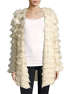 Shaggy Knit Open Front Jacket