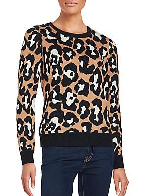 Leopard Print Intarsia Sweater
