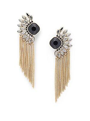Moxie Chain Fringe Drop Earrings