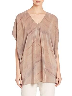Grove-Print Silk Tunic