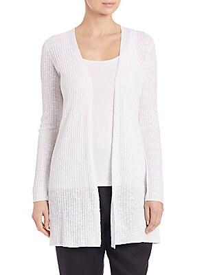 Textured Organic Linen Cardigan