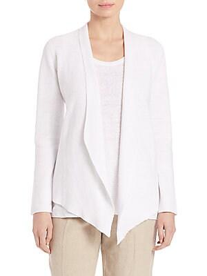 Organic Linen Drape-Front Jacket